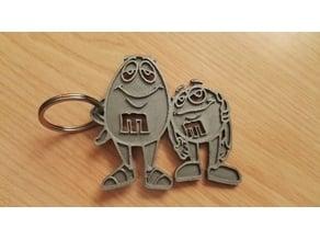 M&m keychain