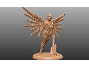 Cyberpunk Angel - Tabletop Miniature
