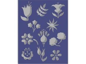 Flowers stencil