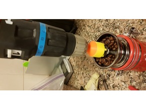 Coffee grinder to power drill adaptor