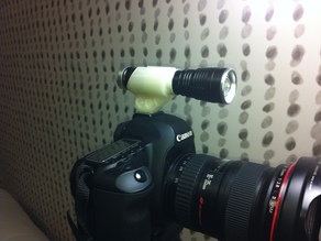 Poor man's strobe / DSLR flshlight or shotgun mic mount
