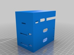 a small rack for three raspberry pis