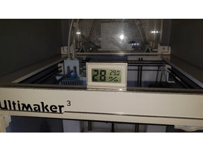 Ultimaker 3 build chamber thermometer/hygrometer