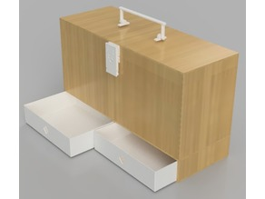 Storage Box for Hantek DSO5102 (or Multipurpose) Boite de Rangement DSO5102 Hantek, ou tout autre usage