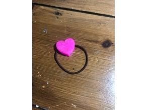 Heart hair bobbles Mark II