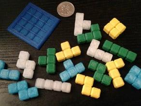 Tetris 4x4x4 puzzle cube