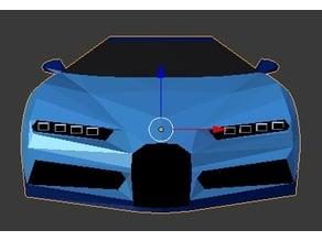 Low-Poly Bugatti Chiron Body (compatible with Kyosho Mini-Z)