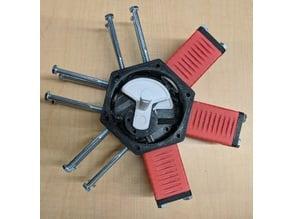 Pneumatic Radial 6 Cylinder Engine