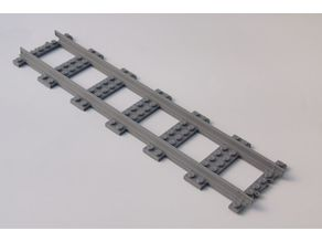 LEGO City railway straight XXLong