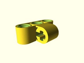 Lego Technic: Axle and Pin Connector Perpendicular Customizable