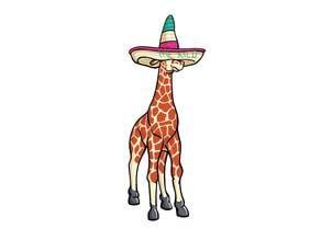 Giraffe Sombrero Keychain