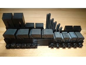 44 Pieces 8mm T-Slot Clamping Set Stand
