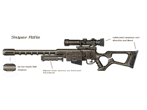 Fallout 3 full size sniper rifle: stock