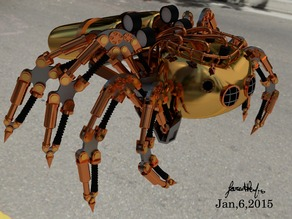 Steampunk Spider by Jared Renfro