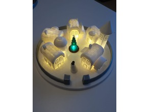 Christmas elf town lamp individual parts