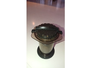 Aeropress filter cap clip-on