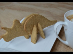 Triceratops Dinosaur 3D cookie cutter