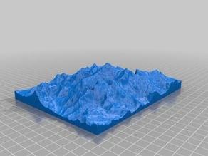 Mount Everest 1:100000