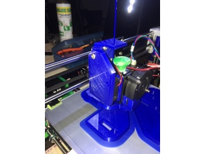 Anet A8 foldable extruder fan duct and filament guide