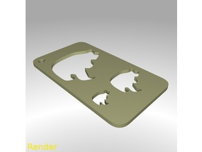 Bear Shape Drawing Stencil
