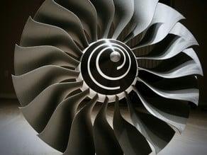 High Bypass Jet Engine Fan