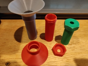 US Coin Tubes with Threaded Cap and Funnel