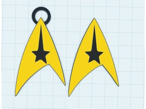 Star Trek Command necklace and badge