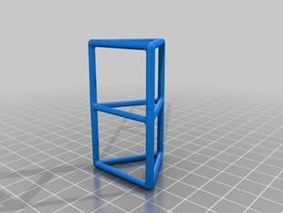 Simple Wire Frame Triangular Prism