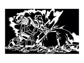 Hulkbuster vs Dr Doom stencil
