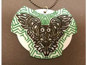 Futuristic Owl Pendant