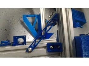 Parametric 2020 aluminum bracket stiffener