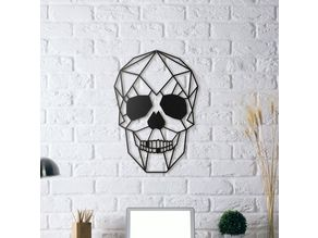Skull Wall Sculpture 2D