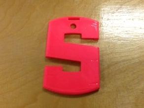 """""""S"""" I.D. Badge Holder"""