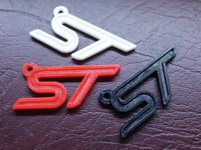Ford ST Emblem Keytag (Medium-Res)