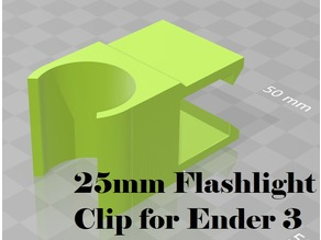 Harbor Freight light clip for Ender 3