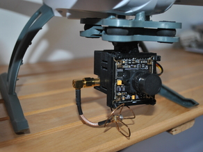 Transmitter and CCD cam mount for GoPro Clip