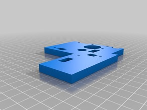 anet a6 frame z axis the left part bottom plat