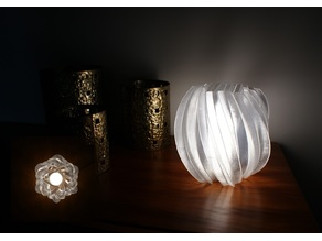 von Koch fractal vase - lamp
