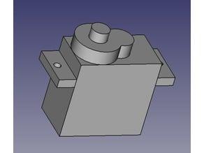 SG90S High Torque - Servomotor fingerprint (Empreinte Servomoteur)