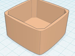 open top box, curved outside walls