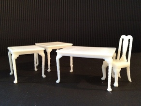 Miniature Queen Anne Dining Tables