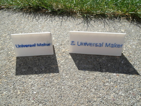 customizable (table) sign