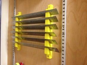 Shop Tool Cabinet Ruler Rack