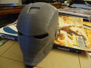 Ironman helmet in 3 parts