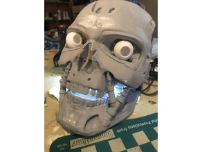 T-800 skull working Jaw and eyes + more!