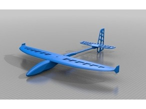 DLG complete data for wing, fuselage, tail and elevator