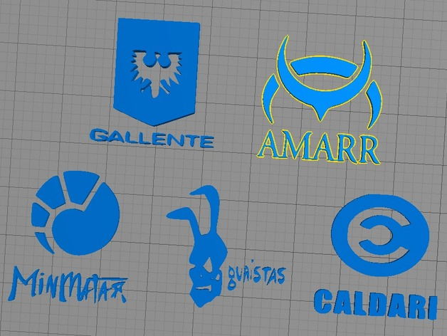Très Eve Online - Faction Logos by fattox4189 - Thingiverse VE72