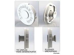 Plug Cover with hidden handle - Tapa de enchufe con tirador oculto