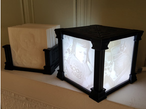 Lithophane Display with Multiple Configurations and Storage Caddy
