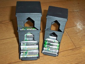 AA AAA Extendable Battery Dispenser  - Lightened with lid and full plates!